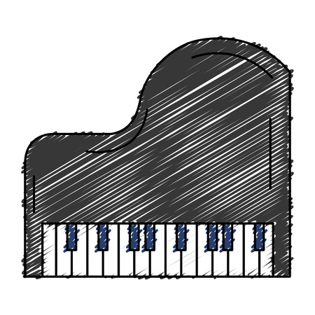 grand piano instrument musical vector illustration design Illustration