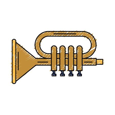 orchestral: trumpet musical instrument icon vector illustration design