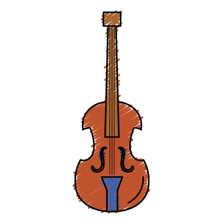 Violoncelle instrument de musique icône illustration vectorielle conception Banque d'images - 81186332