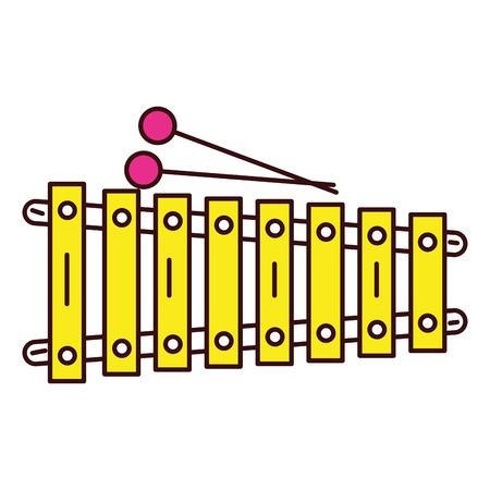 Een xylofoon instrument muzikaal pictogram vector illustratie ontwerp.