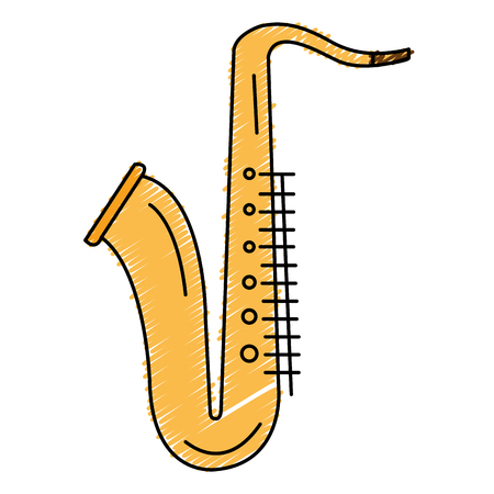 Saxophone musical instrument icon vector illustration design Illustration