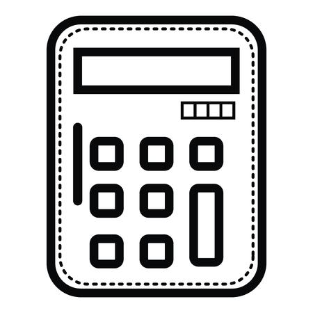 Calculadora de matemáticas aislado icono de ilustración vectorial de diseño Foto de archivo - 81186417