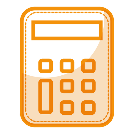A calculator math isolated icon vector illustration design.