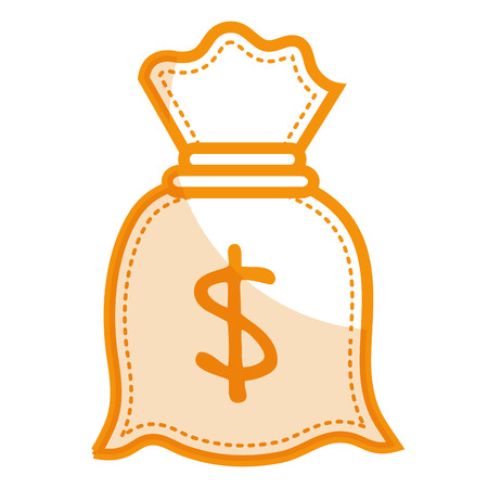 A money bag isolated icon vector illustration design. Illustration