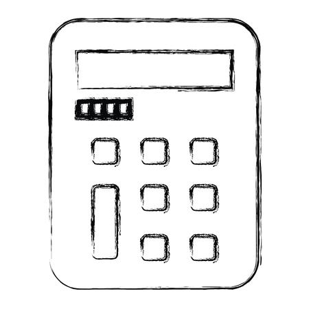 계산기 수학 절연 아이콘 벡터 일러스트 디자인 스톡 콘텐츠