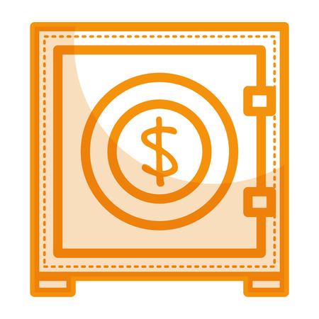 flat iron: safe box isolated icon vector illustration design Illustration