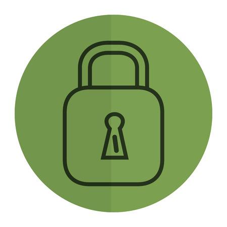 Safe secure padlock icon vector illustration design Фото со стока - 81185364