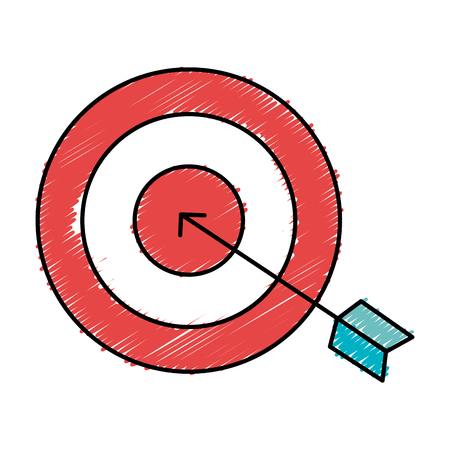pictograph: target with arrow icon vector illustration design Illustration