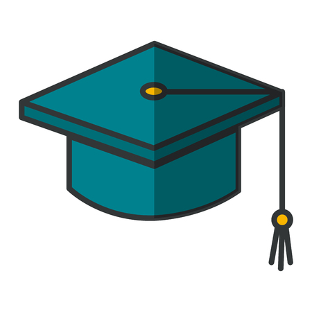 A graduation hat isolated icon vector illustration design. Ilustração