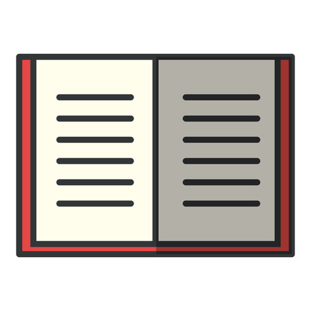 A text book isolated icon vector illustration design.