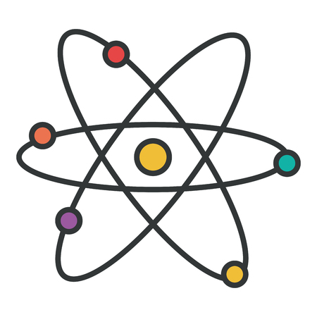 atom molecule isolated icon vector illustration design Stock Vector - 81186276