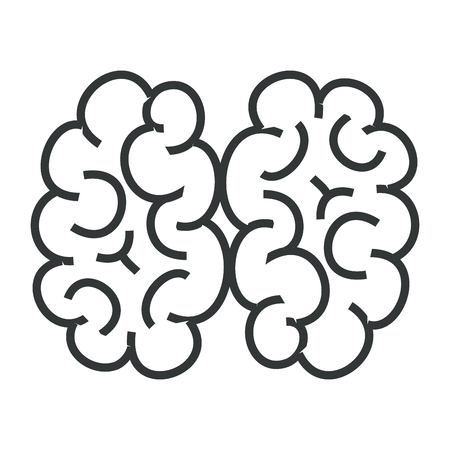 A human brain isolated icon vector illustration design.