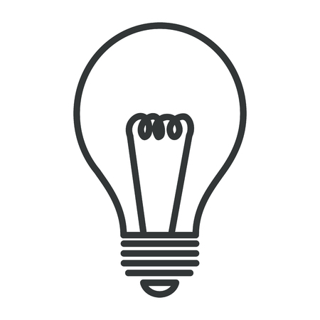 A light bulb isolated icon vector illustration design.