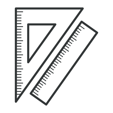 A ruler use in school isolated icon vector illustration design. Ilustração