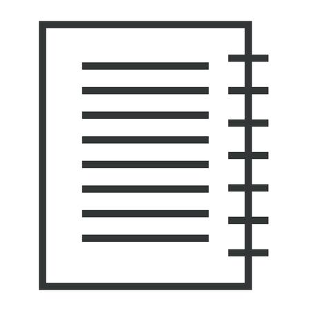 A note book school icon vector illustration design.