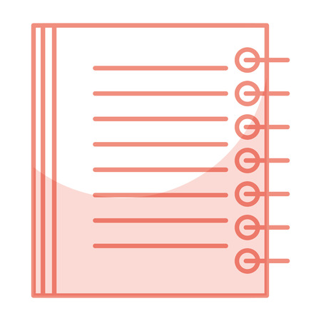 A note book school icon vector illustration design.
