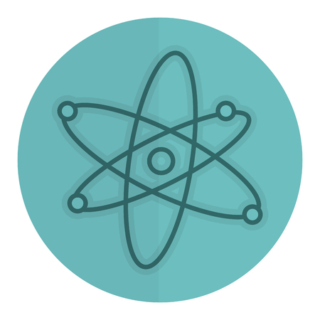 Atom molecule isolated icon vector illustration design.
