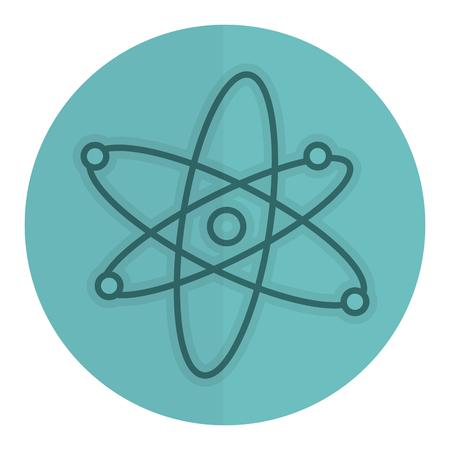 Atom molecule isolated icon vector illustration design.