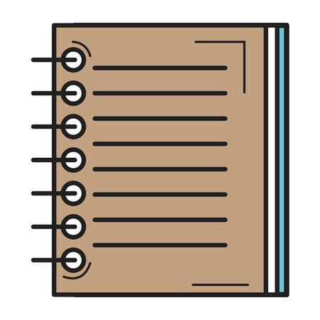 note book school icon vector illustration design