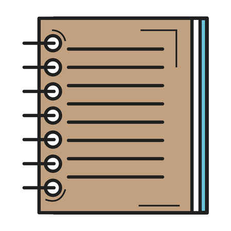 note book school icon vector illustration design