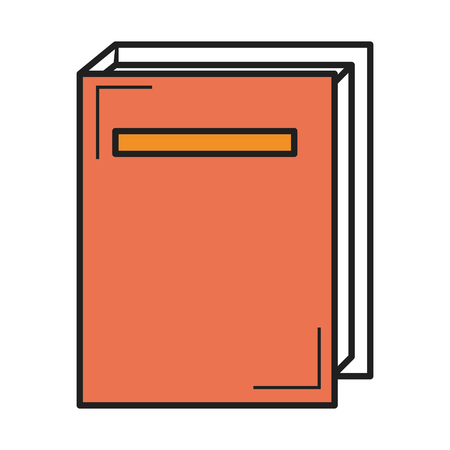 Text book isolated icon vector illustration design.