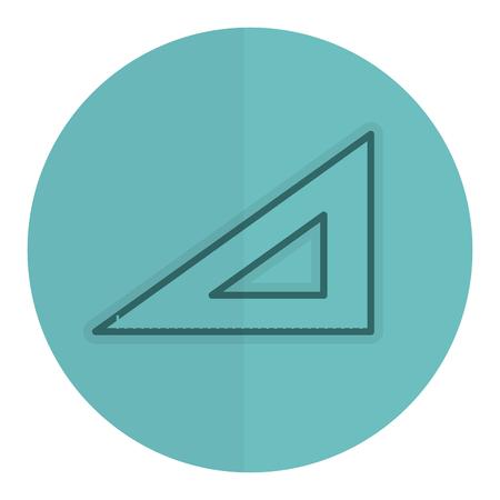 規則の学校分離アイコン ベクトル イラスト デザインです。