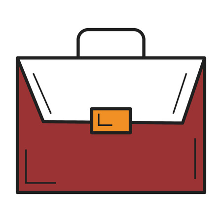 diplomat: A portfolio briefcase isolated icon vector illustration design.