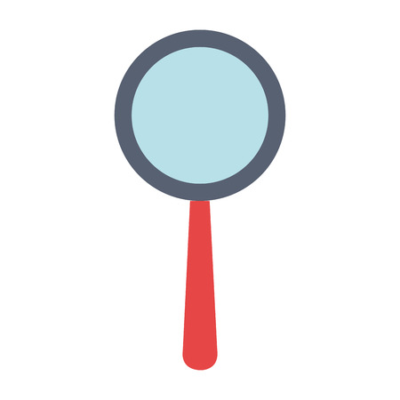 inspect: A search magnifying glass icon vector illustration design.