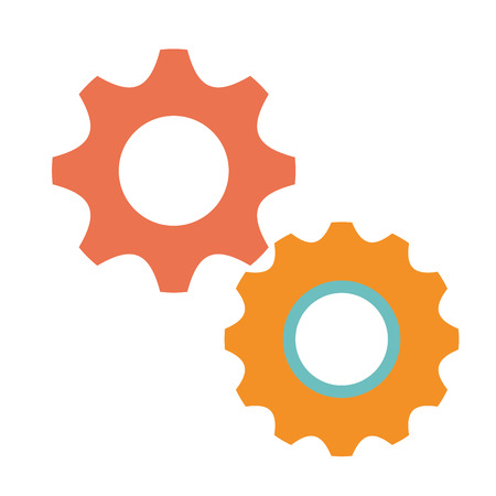 pictograph: A gears machinery isolated icon vector illustration design. Illustration