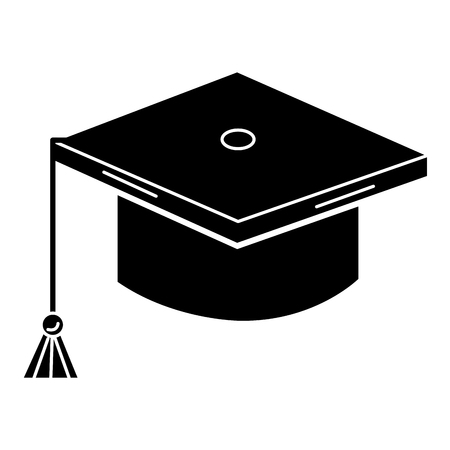 A graduation hat isolated icon vector illustration design. Banco de Imagens - 81186682
