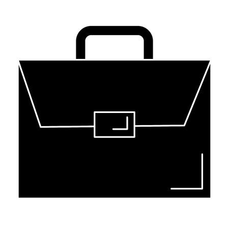 Een portefeuille aktetas geïsoleerd pictogram vector illustratie ontwerp. Stock Illustratie
