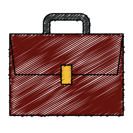 diplomat: portfolio briefcase isolated icon vector illustration design Illustration