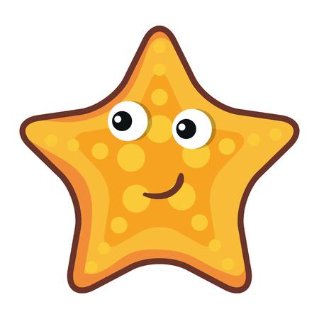 Cute starfish icono de carácter ilustración vectorial diseño Foto de archivo - 81271583