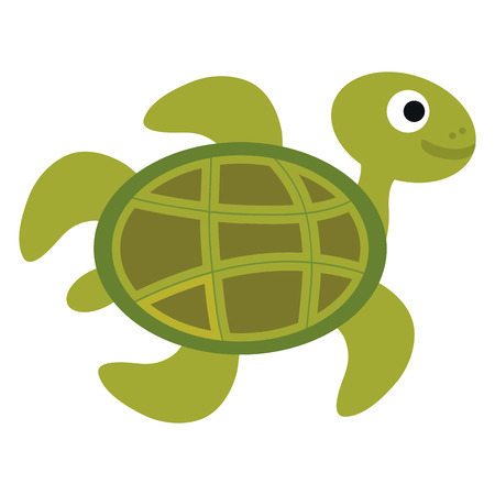 cute turtle character icon vector illustration design Ilustração