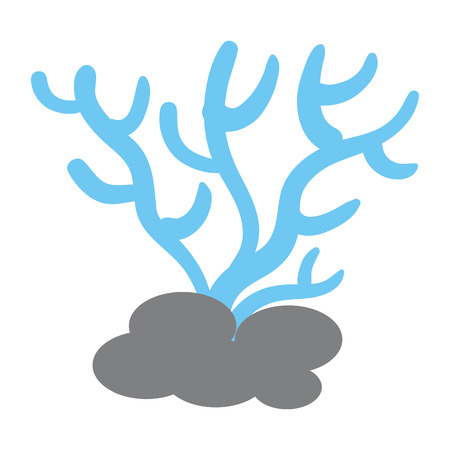 Marine coral isolated icon vector illustration design
