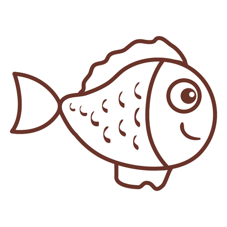 cute ornamental fish icon vector illustration design Stok Fotoğraf - 81271607