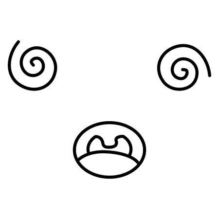 얼굴 이모티콘 문자 벡터 일러스트 디자인 일러스트