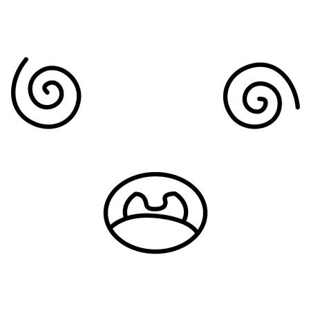 gezicht emoticon karakter vector illustratie ontwerp