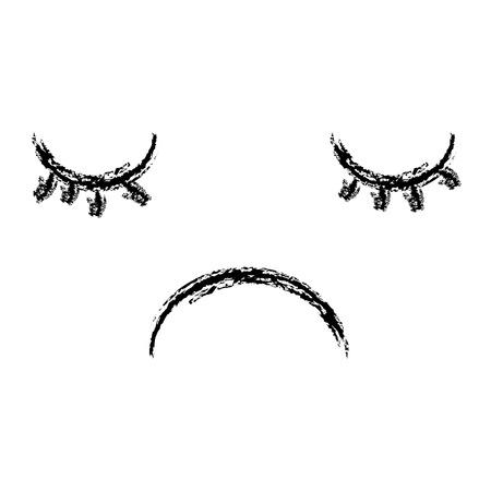 Gezicht emoticon karakter vector illustratie ontwerp Stock Illustratie