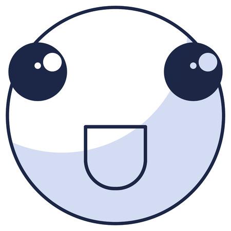 Cirkel gezicht emoticon karakter vector illustratie ontwerp Stock Illustratie