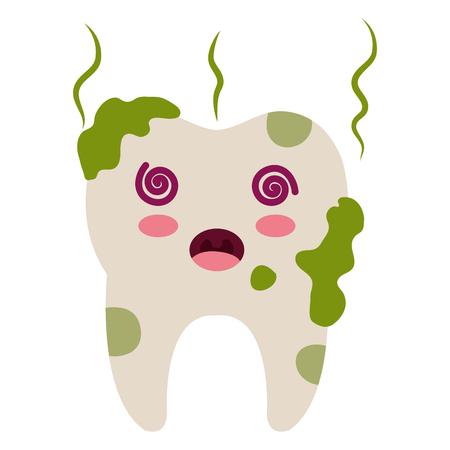 Caractère sale de dent isolé icône design d'illustration vectorielle Banque d'images - 81294366
