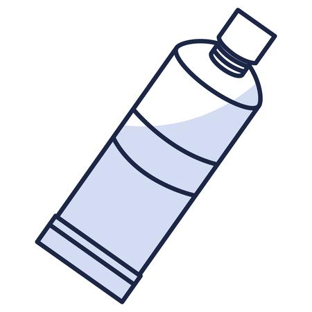 歯磨き粉の歯科製品アイコン ベクトル イラスト デザイン