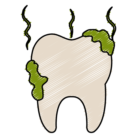 dientes sucios: dientes sucios aislados icono ilustración vectorial diseño Vectores
