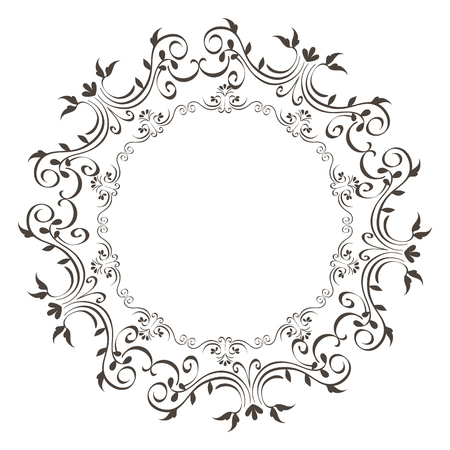 Elegante viktorianischen Stil Rahmen Vektor-Illustration Design Standard-Bild - 81271951