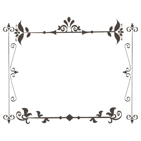 Elegante viktorianischen Stil Rahmen Vektor-Illustration Design Standard-Bild - 81271952