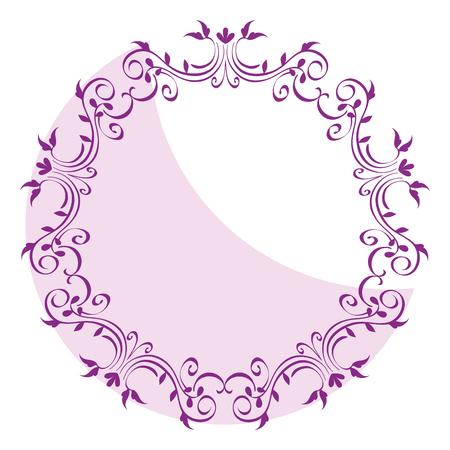 Elegante viktorianischen Stil Rahmen Vektor-Illustration Design Standard-Bild - 81271956