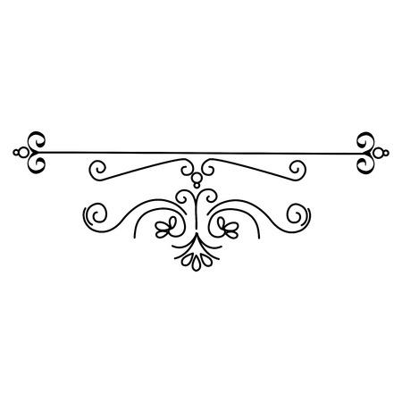 Elegantes viktorianisches Designvektor-Illustrationsdesign Standard-Bild - 81271896