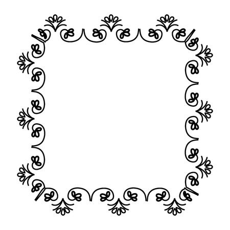 Elegante viktorianischen Stil Rahmen Vektor-Illustration Design Standard-Bild - 81295026