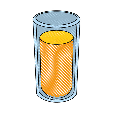 juice glass icon over white background colorful design vector illustration