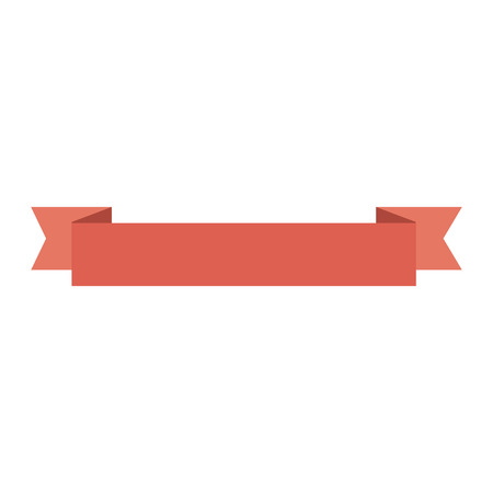 red ribbon icon over white background vector illustration